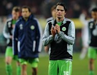 Wolfsburg's midfielder Christian Traesch, pictured after a German first division Bundesliga match against FC Augsburg last year. Traesch has spoken out after a group of football fans verbally abused him and his wife at their home in the latest in a recent wave of aggressive acts by fans in Germany
