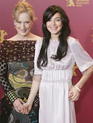 Meryl Streep and Lindsay Lohan at the photocall for 'A Prairie Home Companion' during the 56th Berlin International Film Festival in Berlin on February 12, 2006 -- Getty Images