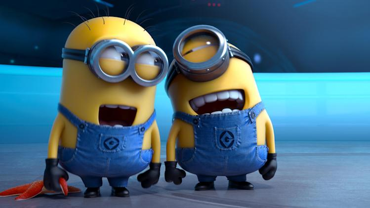 "This film publicity image released by Universal Pictures shows the minion characters in ""Despicable Me 2."" (AP Photo/Universal Pictures)"