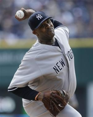 Yankees' Sabathia shuts down Tigers in 7-0 victory