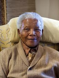 "Former South African president Nelson Mandela is pictured on July 17, 2012 at his home in Qunu, Eastern Cape. Mandela was in a ""serious but stable"" condition in hospital on Saturday night with a renewed lung infection that has triggered worldwide concern for the South African hero"