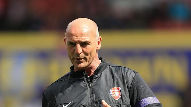 Steve Bould, pictured, has been hailed by Arsenal boss Arsene Wenger