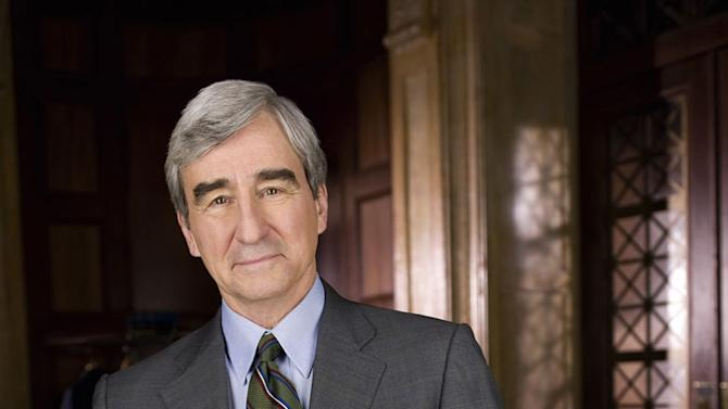 "Sam Waterston as Asst. D.A. Jack McCoy on ""Law & Order."""