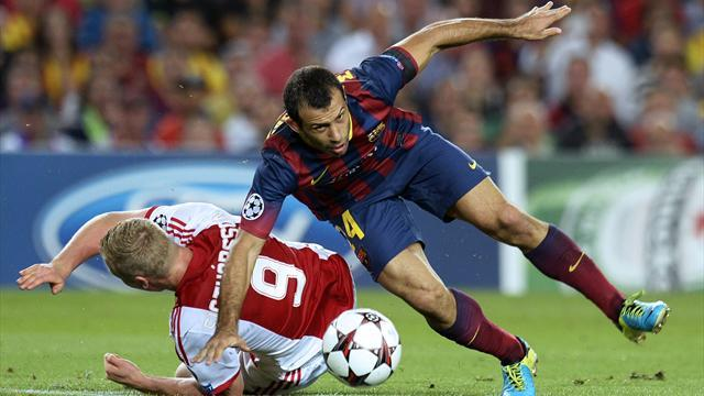 Liga - Barcelona star Mascherano dealt injury blow