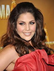 "FILE - In this Nov. 10, 2010 file photo, Hillary Scott of the group Lady Antebellum attends the 44th Annual Country Music Awards in Nashville, Tenn.Scott announced her pregnancy Friday Dec. 7, 2012 on Twitter, calling the baby ""our Christmas gift."" A spokeswoman confirmed the news and said no other details were available. It's the first child for the 26-year-old ""Need You Now"" singer and her husband, Chris Tyrrell. (AP Photo/Evan Agostini, file)"
