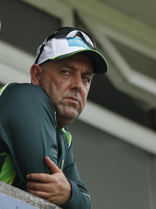 CRIC: Australia coach Darren Lehmann watches the action from the pavilion