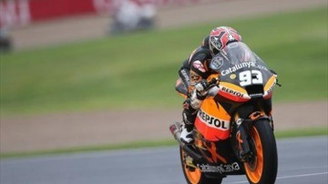 Motorcycling - Moto2: Champ Marquez wins from back of grid