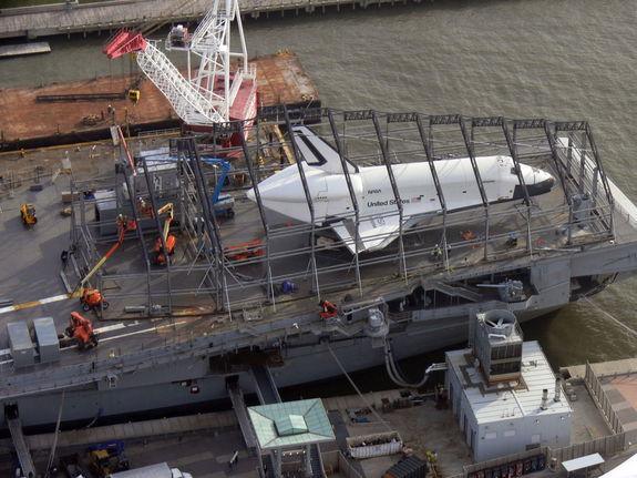 Space Shuttle Enterprise's New Home Takes Shape at NYC Museum