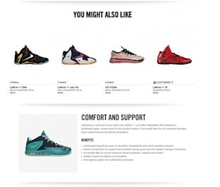 What Nike.com (and Others) Can Teach You About Building Persuasive Product Pages image Nike Product Page Additional Information 1 e1408125508431 600x510