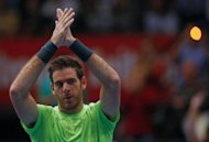 Juan Martin del Potro, pictured on October 21, secured his place in the ATP World Tour Finals on Thursday with a 7-5, 6-1 defeat of American Brian Baker which gave him a place in the Swiss Indoors quarter-finals