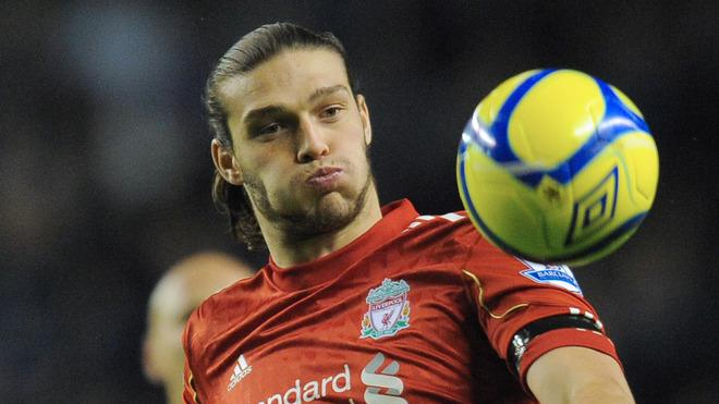 Liverpool's English Forward Andy Carroll Eyes AFP/Getty Images