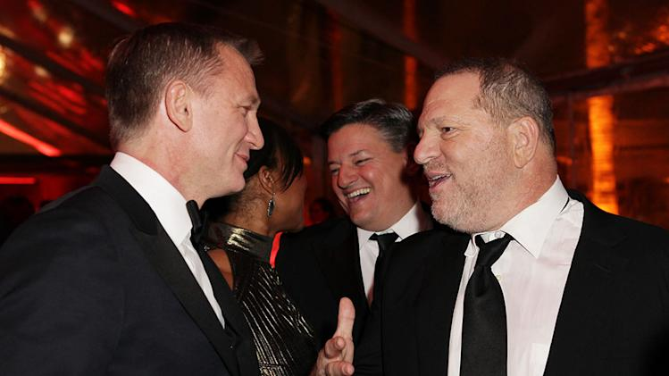 The Weinstein Company's 2013 Golden Globe Awards After Party Presented By Chopard, HP, Laura Mercier, Lexus, Marie Claire, And Yucaipa Films - Red Carpet: Daniel Craig and Harvey Weinstein