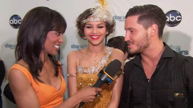 Zendaya and Valentin Chmerkovskiy chat with Access Hollywood's Shaun Robinson on March 25, 2013 -- Access Hollywood