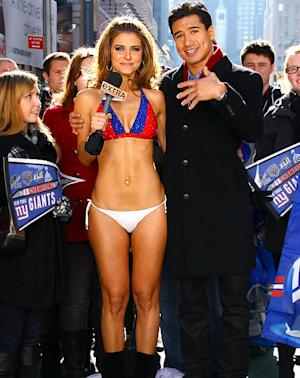 Maria Menounos Rocks Skimpy Giants Bikini After Losing Super Bowl Bet