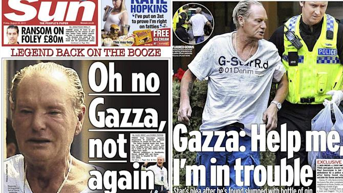 Premier League - Gazza 'facing homelessness' after latest drunken incident