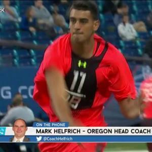 RES: Oregon head coach Mark Helfrich on quarterback Marcus Mariota's NFL future