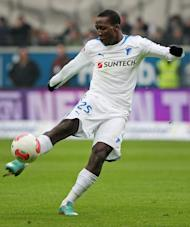 Hoffenheim's Luis Advincula is pictured during their Bundesliga match against Eintracht Frankfurt on January 26, 2013. Hoffenheim have won only one of their last 13 games while Bayern are on a nine-game winning run