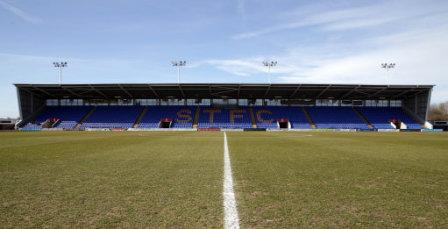 Soccer - Sky Bet League Two - Shrewsbury Town v Cambridge United - Greenhous Meadow