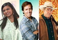 Mindy Kaling, Nat Faxon, Dennis Quaid | Photo Credits: Beth Dubber/FOX; Patrick Ecclesine/FOX; Kevin Lynch/CBS