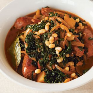 Sausage stew with celariac and kale: Recipe: Food: Red Online