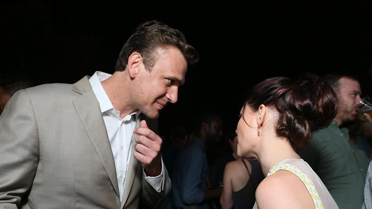 EXCLUSIVE - Actor Jason Segel, left, and Emilie de Ravin attend Entertainment Weekly's Comic-Con Celebration at FLOAT at the Hard Rock Hotel on Saturday, July 20, 2013, in San Diego. (Photo by Alexandra Wyman/Invision for Entertainment Weekly/AP Images)
