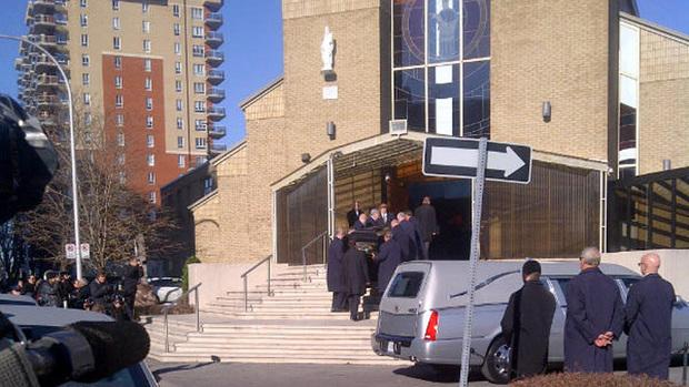The funeral of reputed Mafia member Joe Di Maulo took place Wednesday morning at Notre-Dame-du-Mont-Carmel cathederal in Montreal.
