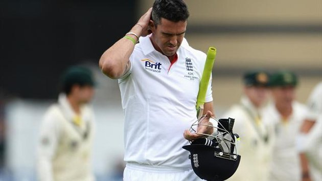 Kevin Pietersen of England looks dejected after being dismissed by Peter Siddle of Australia during day one of the 1st Investec Ashes Test match between England and Australia at Trent Bridge Cricket Ground on July 10, 2013 in Nottingham, England (Getty)