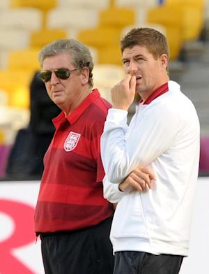 Roy Hodgson (left) and Steven Gerrard are desperate to avoid suffering further pain with England