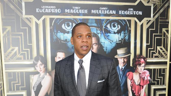 "Jay-Z attends ""The Great Gatsby"" world premiere at Avery Fisher Hall on Wednesday May 1, 2013 in New York. (Photo by Evan Agostini/Invision/AP)"