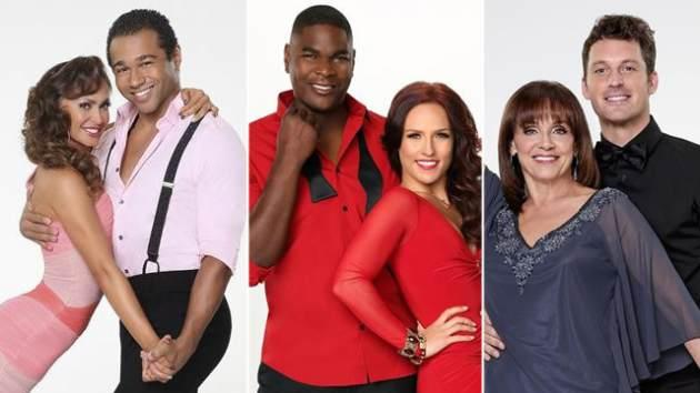 Karina Smirnoff and Corbin Bleu, Keyshawn Johnson and Sharna Burgess, Valerie Harper and Tristan MacManus -- ABC