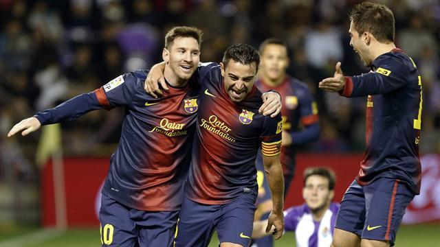 Spanish Liga - Barcelona beat Valladolid as Messi extends tally