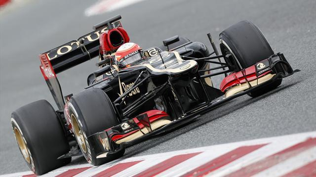 Formula 1 - Lotus's Grosjean quickest on day two of testing