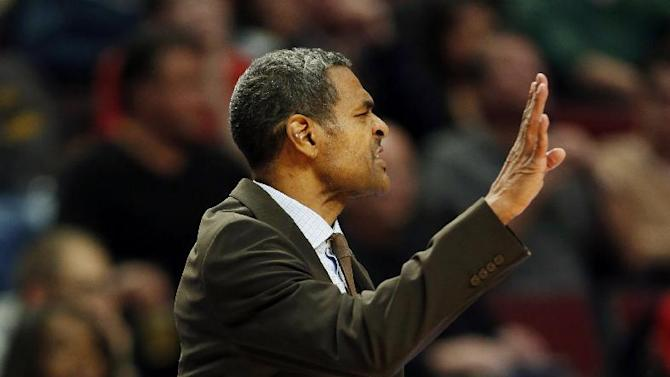 Detroit Pistons head coach Maurice Cheeks directs his team against the Chicago Bulls during the first half of an NBA basketball game in Chicago, Saturday, Dec. 7, 2013