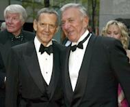 "US actors Tony Randall (L) and Jack Klugman (R) of the show ""The Odd Couple"" in 2002"