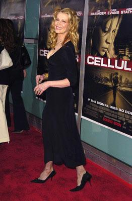 Kim Basinger at the Hollywood premiere of New Line Cinema's Cellular