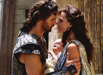 Eric Bana and Saffron Burrows in Warner Brothers' Troy