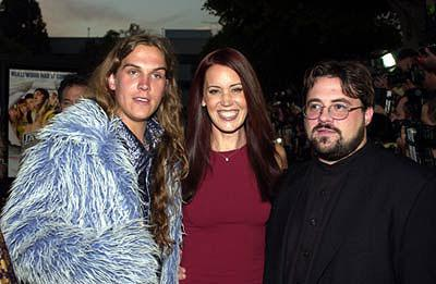 Premiere: Jason Mewes, Jennifer Schwalbach and Kevin Smith at the Westwood premiere of Dimension's Jay and Silent Bob Strike Back - 8/15/2001