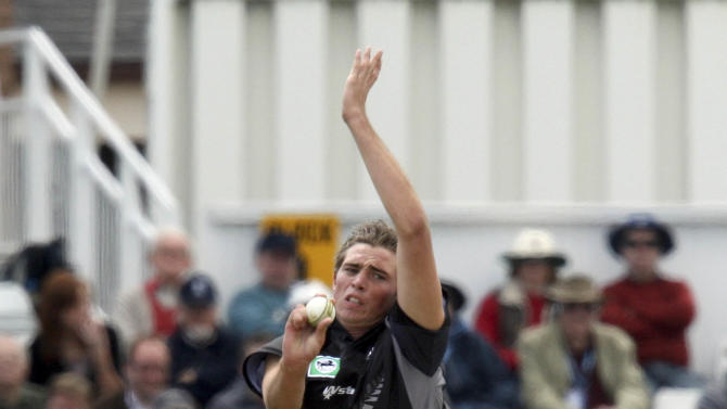 New Zealand's Tim Southee took career-best figures of seven for 64 on day three of the second Test against India in Bangalore