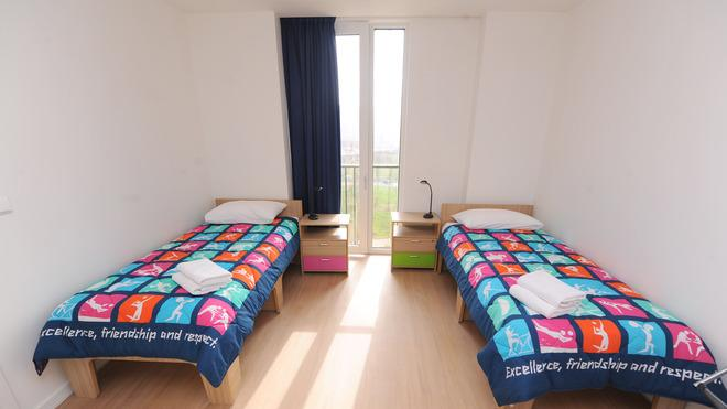 General View Of An Apartment Bedroom In The Athlete's Village At The Olympic Park In Stratford On March 15, 2012 In Getty Images