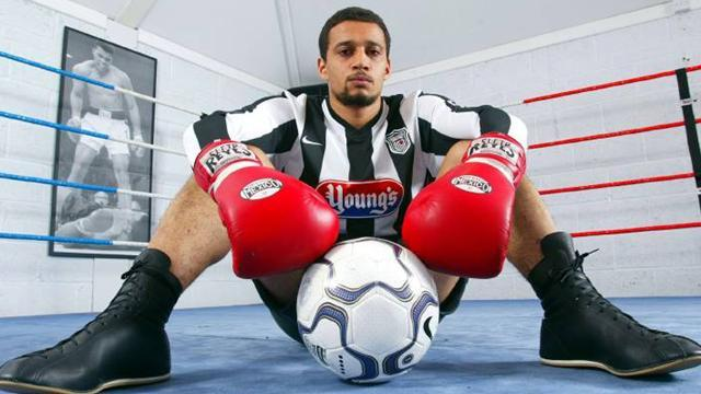 Boxing - Ex-footballer Woodhouse wins British title, then says he'll retire