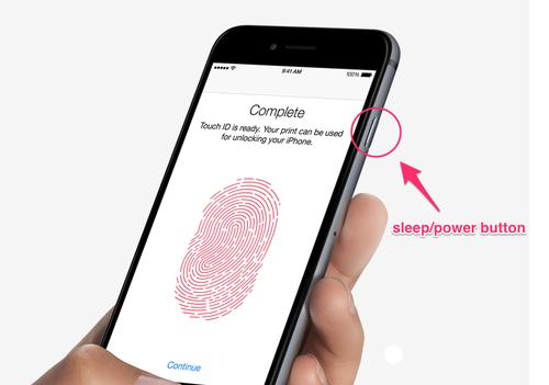 iPhone 6 sleep/power button