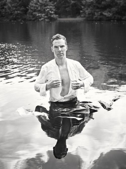Benedict Cumberbatch Becomes A Shirtless Mr Darcy For Charity