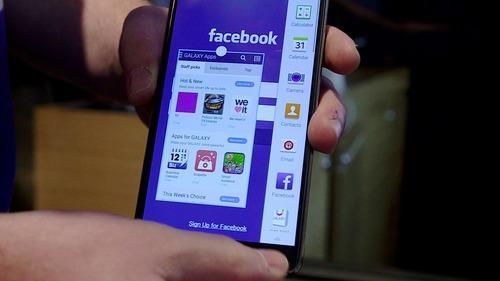 Facebook app on Samsung Galaxy Note 4