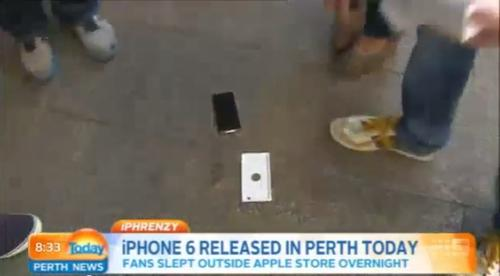 WATCH: First Australian to Snag an iPhone 6 Immediately Drops It on the Pavement