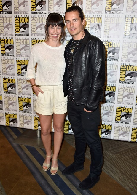 Evangeline Lilly and Orlando Bloom