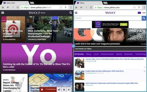 how to keep two screens open at the same time