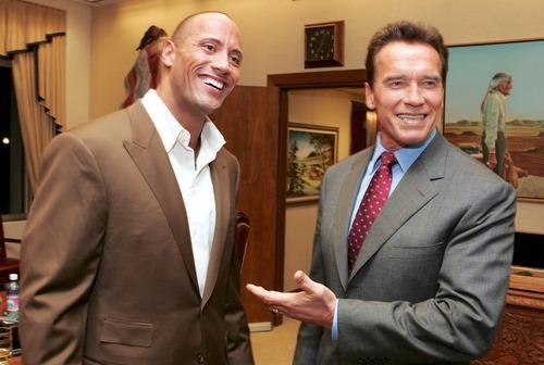 ... Go Back > Gallery For > Arnold Schwarzenegger Vs Dwayne Johnson Body