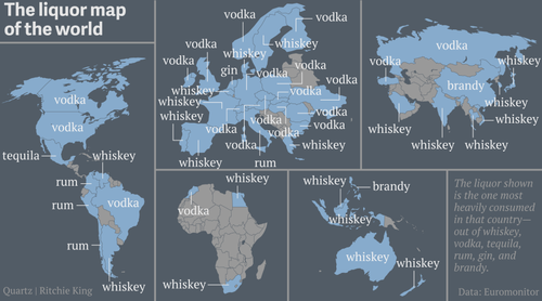 Booze Map of the World Crushes Our Spirits