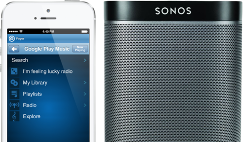 how to connect sonos speaker to play google