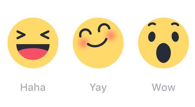 Facebook Unveils New Emoticon Reactions